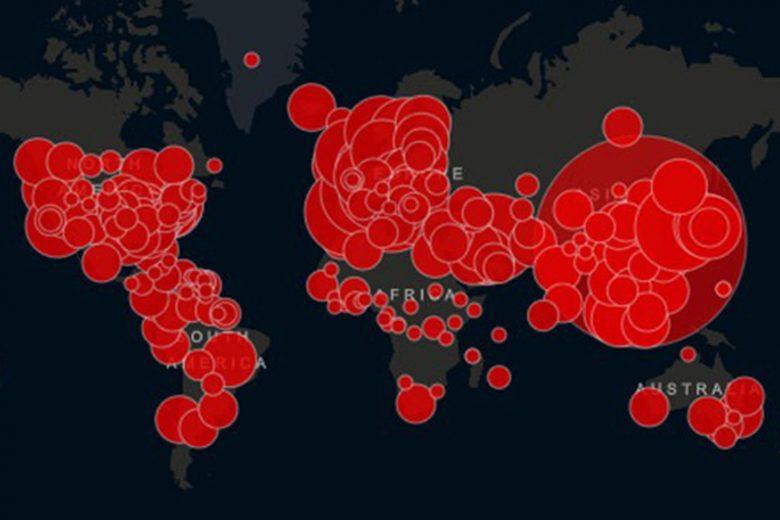 Mapa a tiempo real del coronavirus